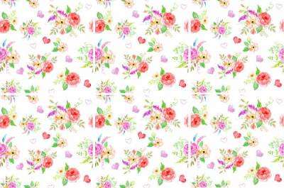 Rose Tiles Ideas - Romaintic Pink and Red Roses Patterned Wall Tiles
