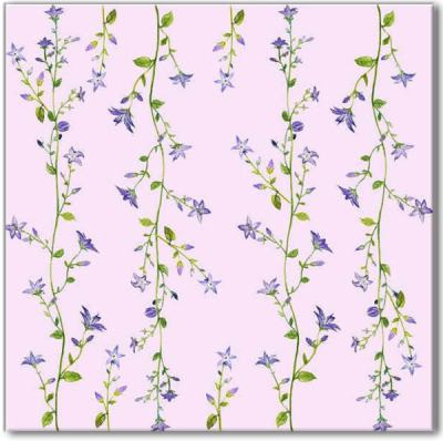 Shabby Chic Tiles - Pink Forget-Me-Not Patterned Tile