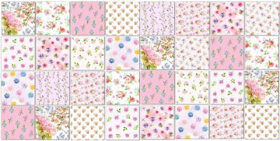 Maximalist Tiles Ideas - Patchwork Tile Pattern Example in Pinks