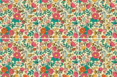 Vintage Tiles - Retro Floral Seamless Tile Pattern