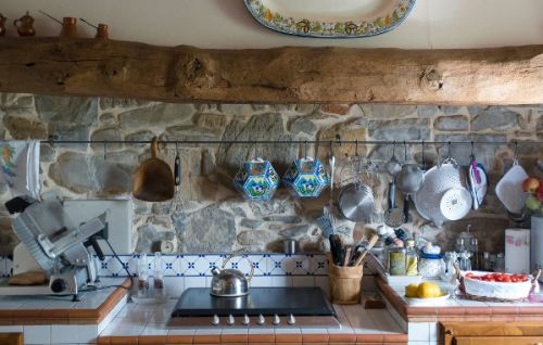 Maximalist Tiles Ideas - Kitchen with a Mixture of Styles and Textures