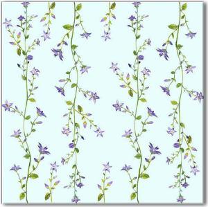 Blue tiles - Blue Forget-Me-Not Pattern Ceramic Wall Tile