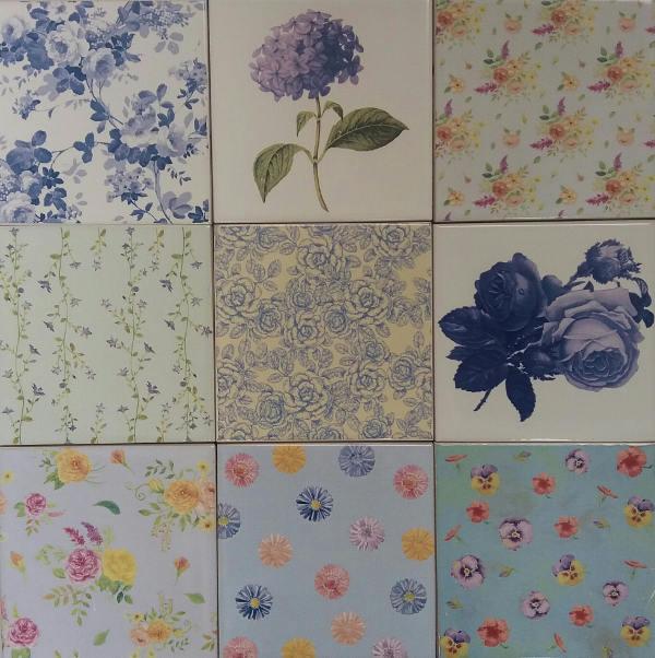 Blue Tiles Ideas by FloralTiles.co.uk