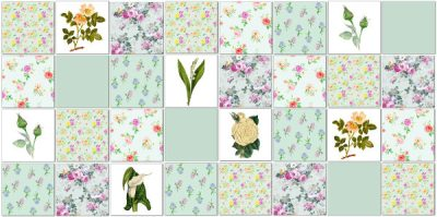 Green Tiles - Green Patchwork Tile Pattern Example