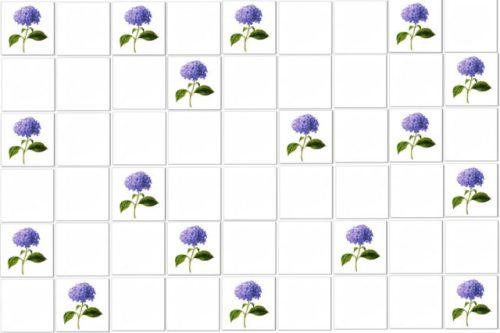 Blue Tiles - Hydrangea Single Blue Scatter Example