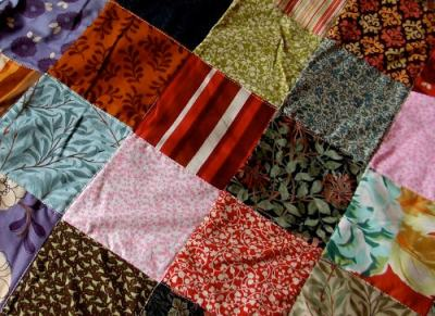 Patchwork Tiles - Fabric Patchwork Blanket