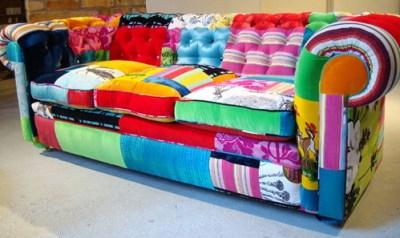Patchwork Tiles - Colourful Patchwork Sofa