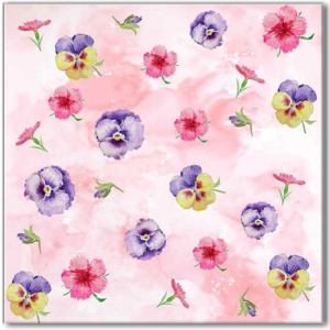 Pink Tiles - Pink Pansy Patterned wall tile