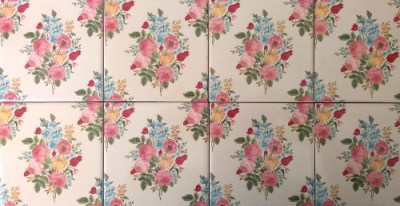 Patterned Tiles - Vintage style seamless floral pattern ceramic wall tiles