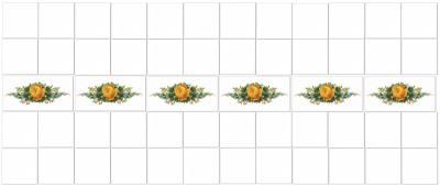 Yellow Tiles - Yellow Roses Border Tiles Pattern Example