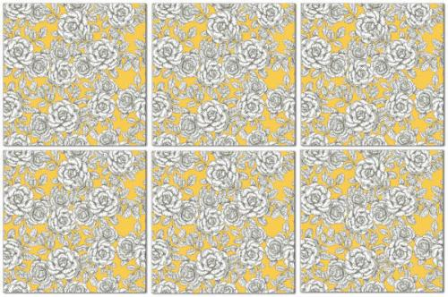 Yellow Tiles - Seamless Yellow Roses Pattern Example
