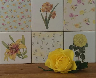 Yellow Tiles Ideas Blog Featured Image - Yellow Floral Wall Tiles