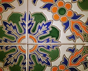Flower Tiles - Traditional Moroccan Flower Tiles