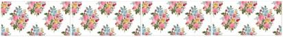 Vintage Flower Spray Border - White - Pattern Example