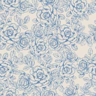 Blue Roses on a Cream Background ceramic wall tile