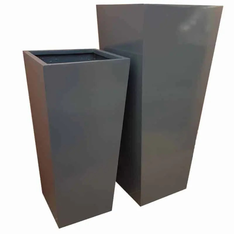 Tall Gray Planters