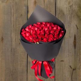 roses in black paper