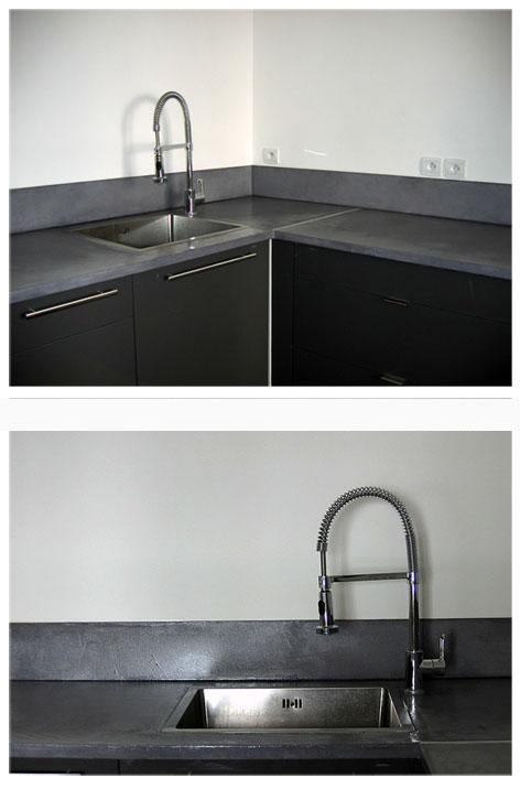 plan de travail et cr dence en b ton cir platinium flore molinaro. Black Bedroom Furniture Sets. Home Design Ideas