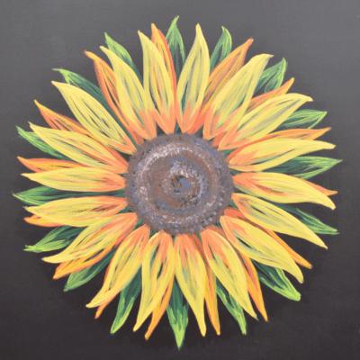 Sunflower Barn Quilt Example