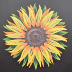Sunflower Barn Quilt Example