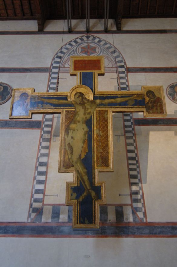 Santa Croce in Florence, Cimabue crucifixion