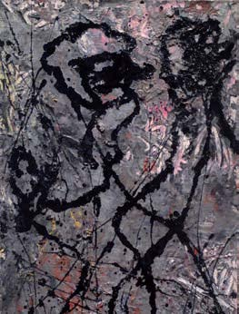 Jackson Pollock, Composition with Black Pouring, 1947