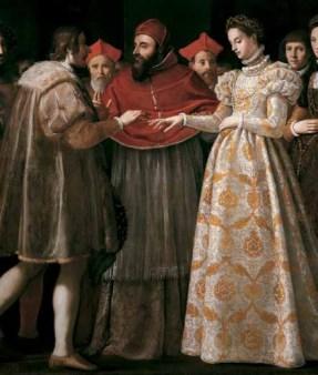"""Jacopo di Chimenti da Empoli (Firenze 1551-1640), """"Nozze di Caterina de' Medici con Enrico di Valois"""", 1600, oil on canvas"""