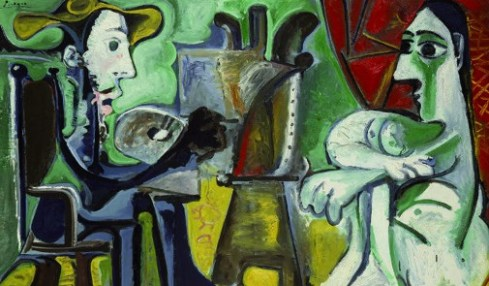 Pablo Picasso. Il pittore e la modella, 1963, oil on canvas, Museo Nacional Centro de Arte Reina Sofía, Madrid