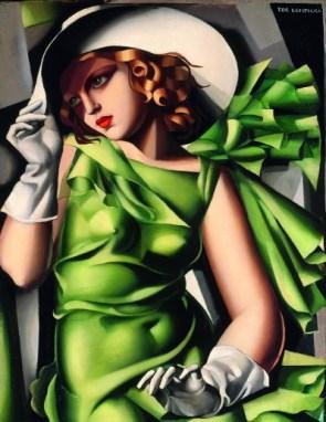 Tamara De Lempicka - Jeune fille en vert 1927 © Centre Pompidou MNAM‐CCI, Dist. RMN‐Grand Palais/Droit réservés