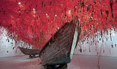 Chi  haru Shiota, The Key In Hand, installation ,  Japanese Pavilion