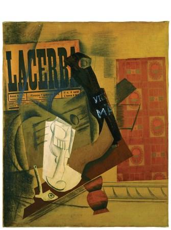 Pipa, bicchiere, bottiglia di Vieux Marc primavera 1914