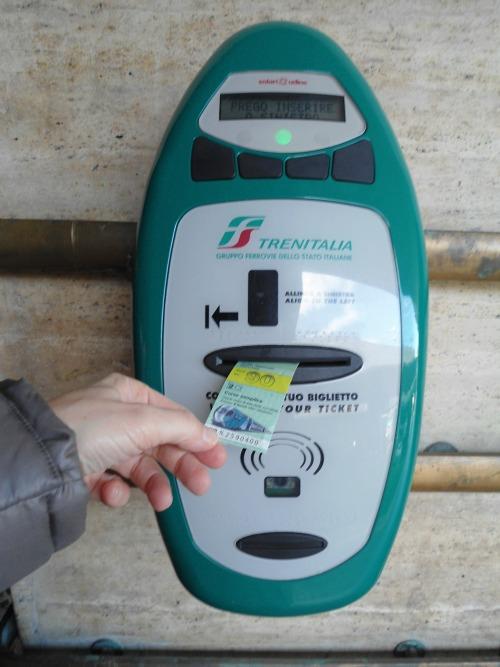 Image result for train ticket stamper rome
