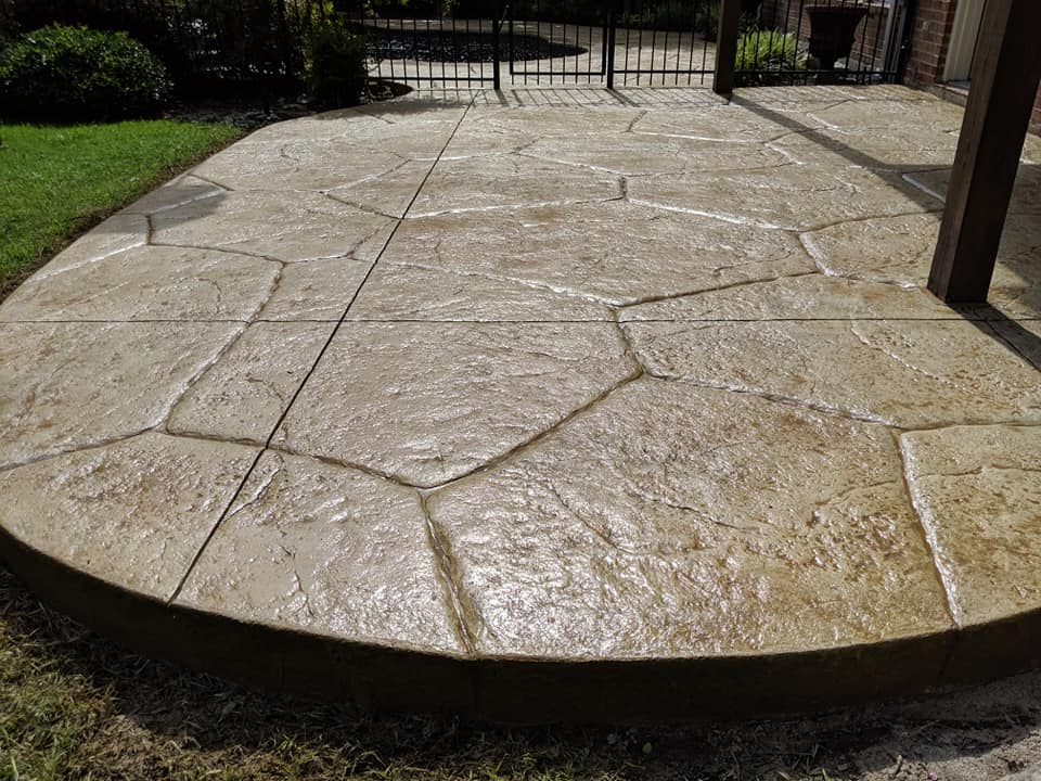 the perfect stamped concrete patio for