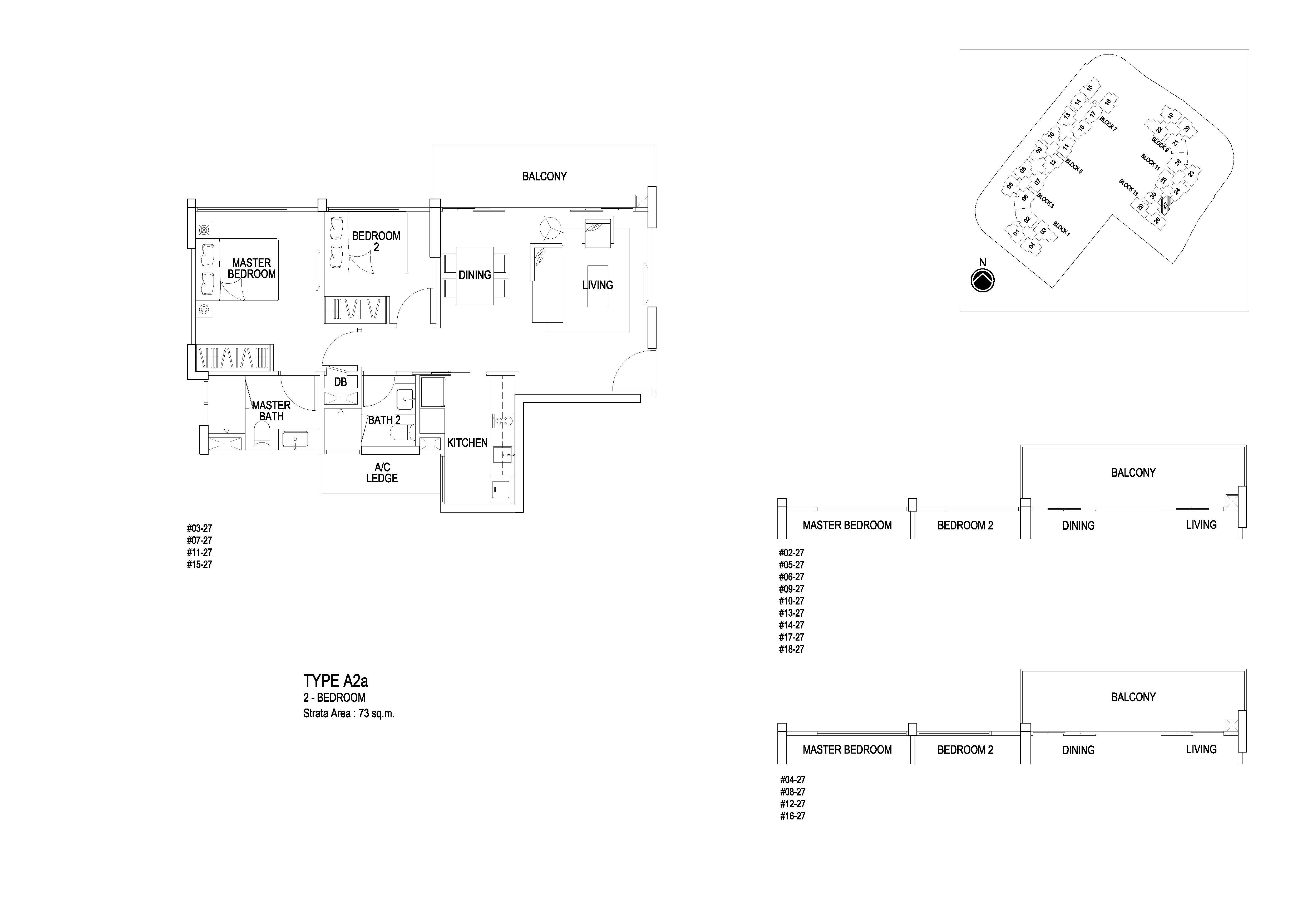 Flo Residence 2 Bedroom Floor Plans Type A2a
