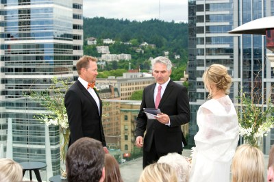 The ceremony with a view.