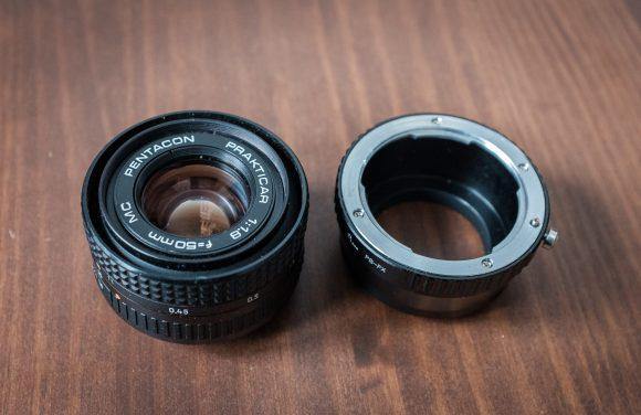 Pentacon 50mm/1.8 mit Adapter