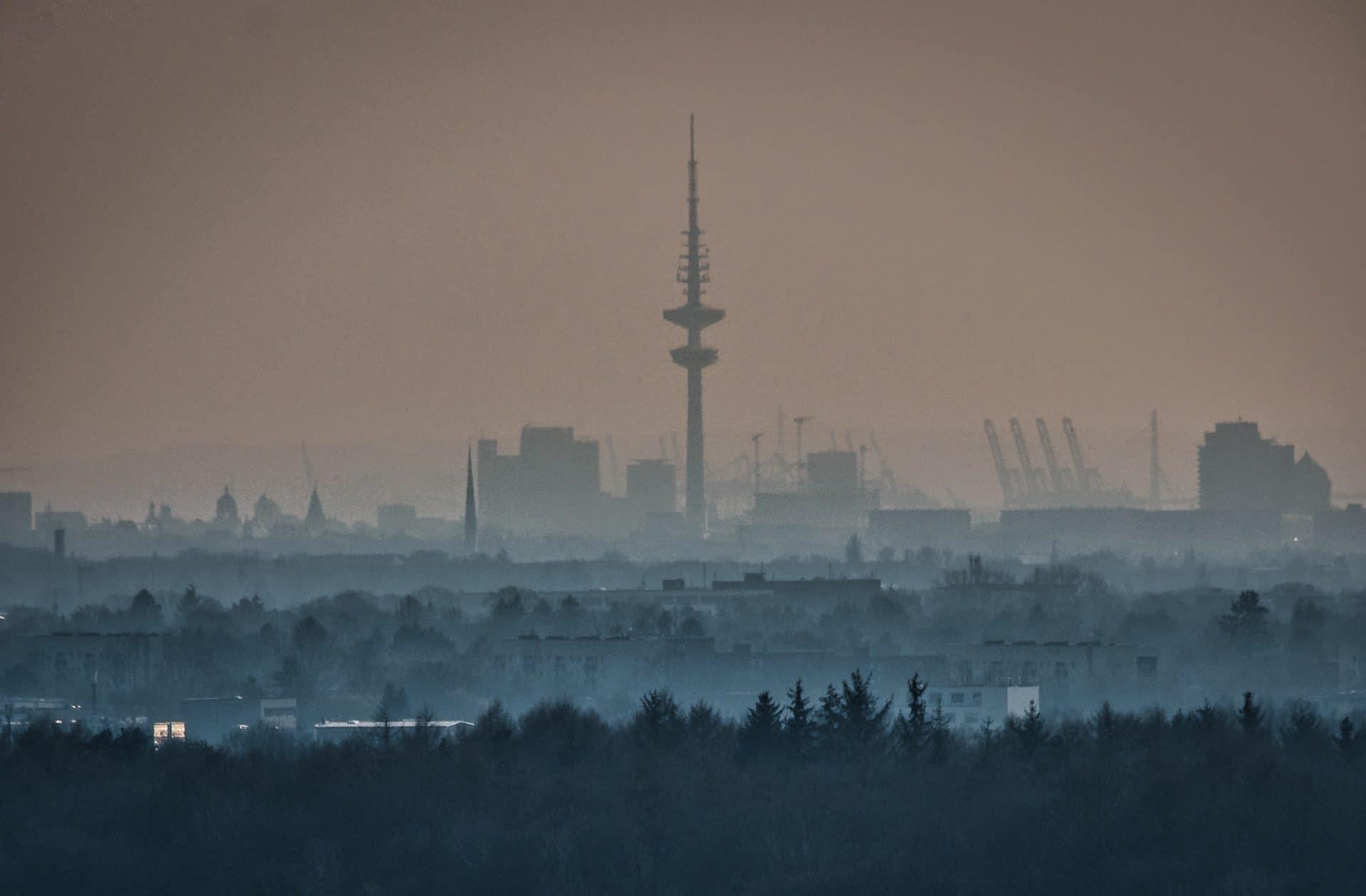 Hamburg vom Müllberg Hummelsbüttel aus gesehen
