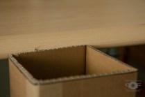 1. Karton halbieren