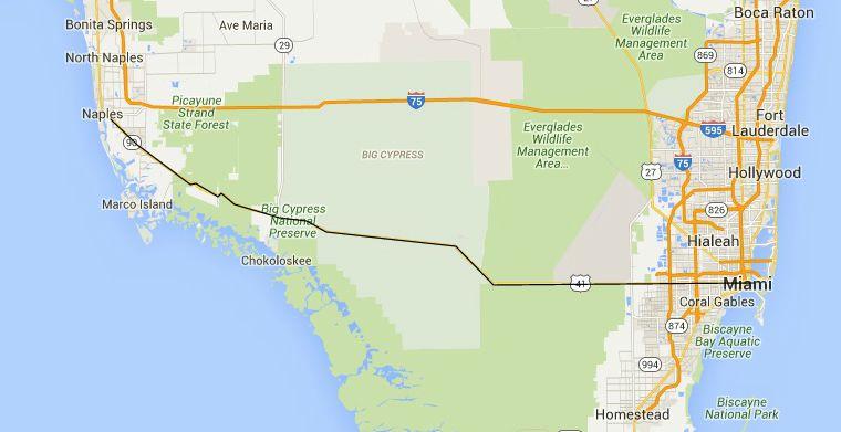 On A Map Of Florida Ormond Beach Florida