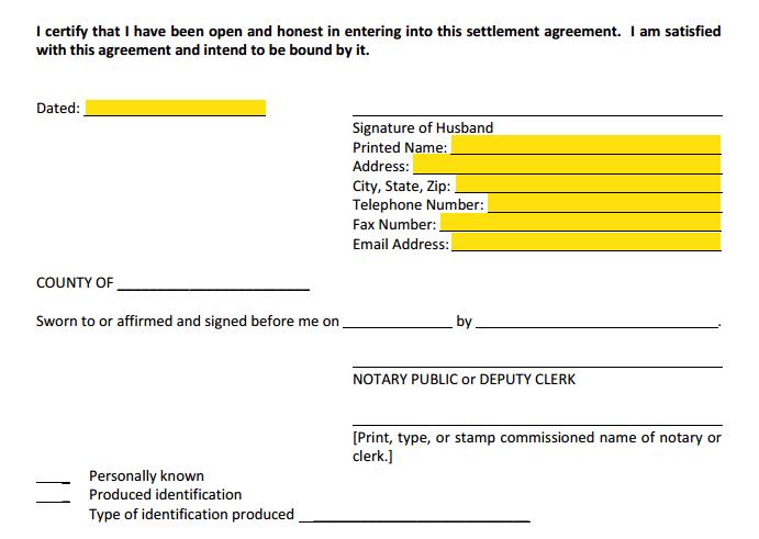 Form 12 902f1 Marital Settlement Agreement Divorce With Children Explained