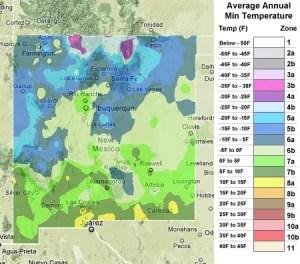 New Mexico usda zones