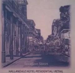 "Preliminary rendering of proposed ""Bourbon Street"" development"