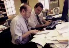 Authors Gerald Markowitz, left, and David Rosner  Photo: Angela Jimenez