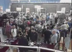 A gun show in January at Fort Lauderdale's War Memorial Auditorium
