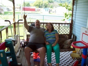 George and Brenda Fore on the porch of the Bancroft, W.Va. home where they have lived for 33 years. Photo: Courtesy of the Fores