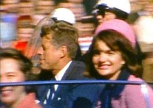 President Kennedy and First Lady Jacqueline Kennedy on Nov. 22, 1963