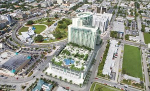Hollywood Circle's proposed 25-story housing and hotel project at Young Circle.