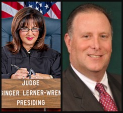 Broward County Judge Ginger Lerner-Wren, left, and David Scharf, director of community programs for the Broward Sheriff's Office