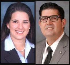 Doral College executives, State Sen. Anitere Flores, left and Rep. Manny Diaz Jr.