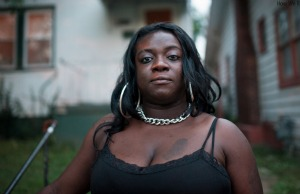 Since 2012, Cori Winfield has had her wages garnished over an unpaid car loan. Because the debt continues to run at an annual interest rate of 30 percent, she has already paid more than twice of what she owed when the car was repossessed in 2010. Photo: Edwin Torres/ProPublica